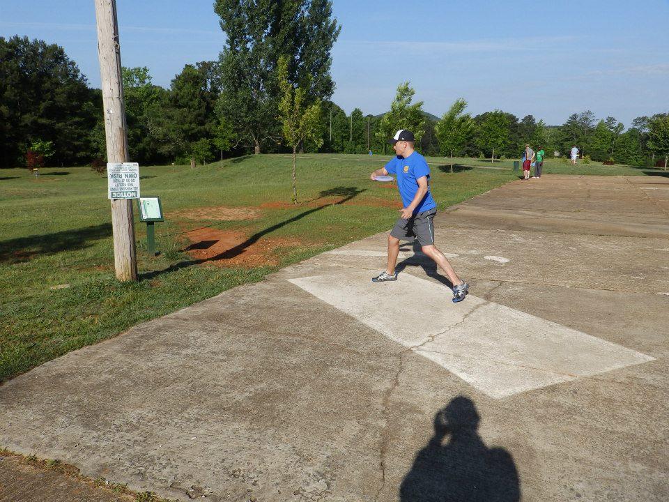Daniel –First round, Hole #1 tee shot. Photo cred: Derek Disc