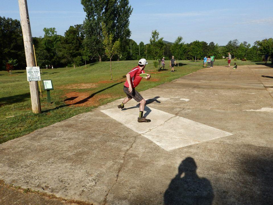 JT –First round, Hole #1 tee shot. Photo cred: Derek Disc