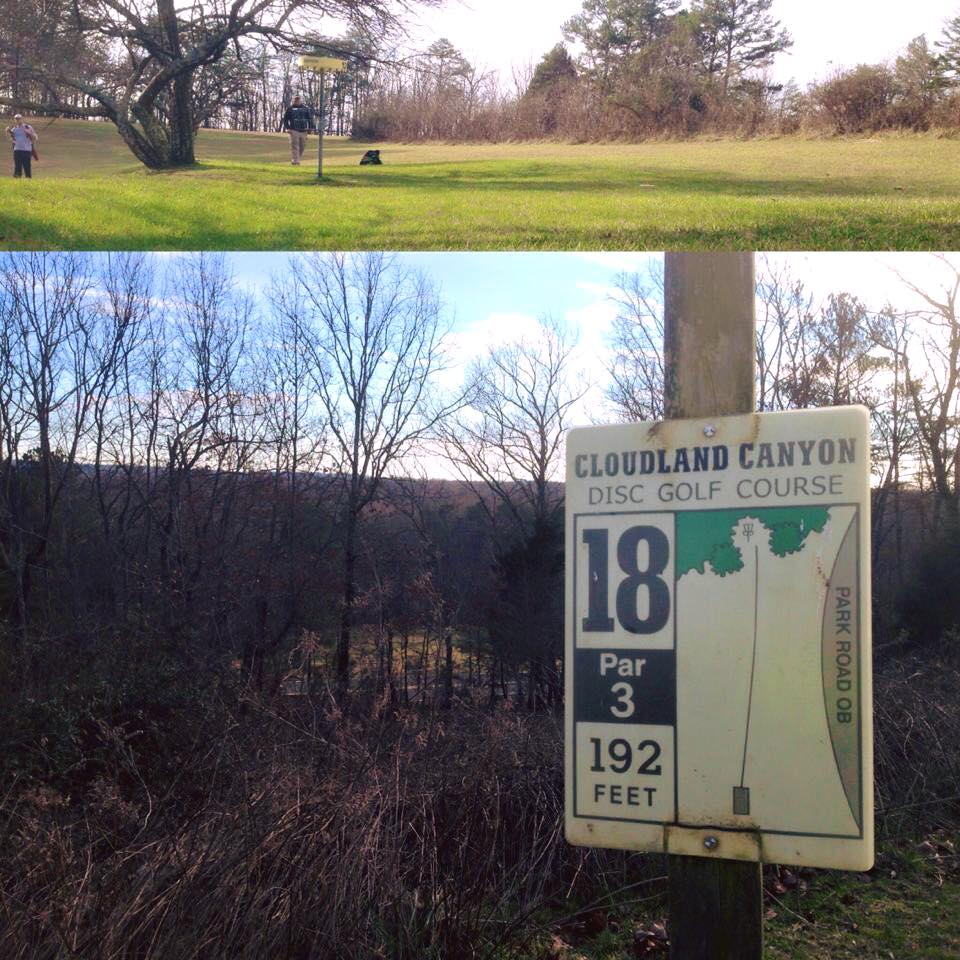 Views on #12 fairway (top) and outwards overlooking the mountain from #18 teebox.